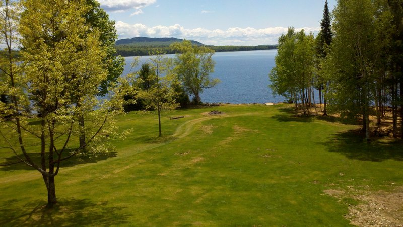 The view of Moosehead Lake and Mount Kineo from The Vegan at Tomhegan.