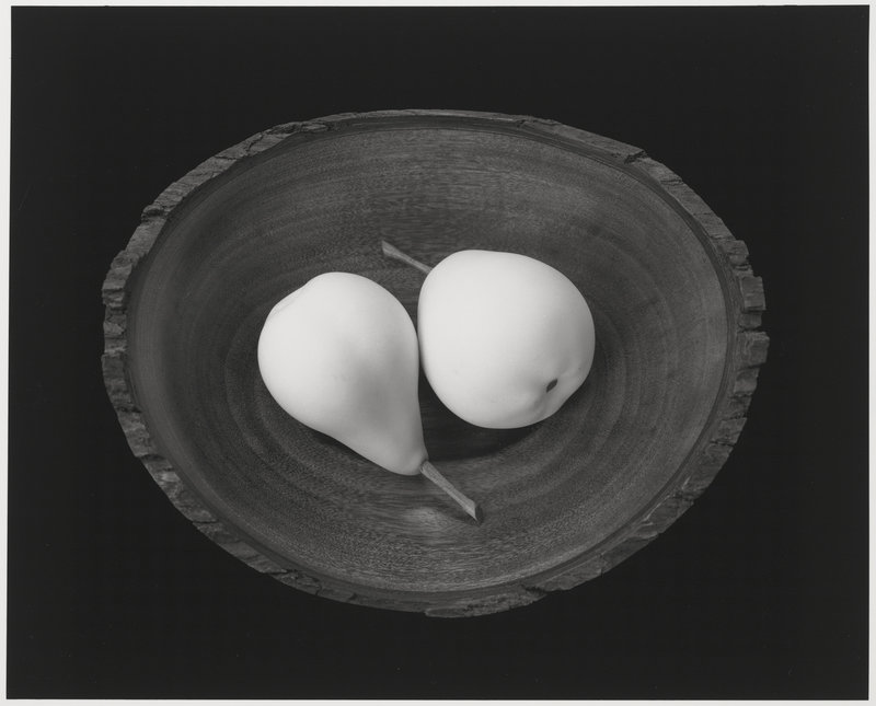 "By Paul Caponigro: ""Two Pears, Cushing, Maine,"" 1999."