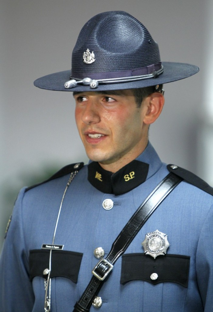 Maine State Trooper Tom Pappas was named Trooper of the Year in a ceremony held Thursday in Augusta.