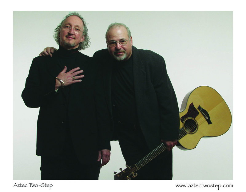 The folk duo Aztec Two-Step, above, celebrates 40 years of performing together with an anniversary show on Friday at Stone Mountain Arts Center in Brownfield.