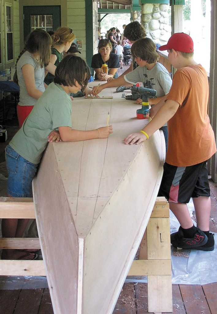 """Besides the Camp Loon Survivor Island camp, Portland-based Compass Project is offering a July boat-building camp themed: """"The kids build the boat ... and the boat builds the kids."""" Participants will craft a peace canoe and paddles, which will be auctioned to raise money for scholarships."""