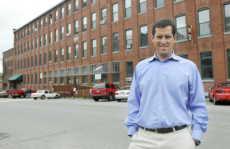 """Aleksandar """"Sasa"""" Cook agrees with many tenants that the historic Westbrook mill needs renovations."""