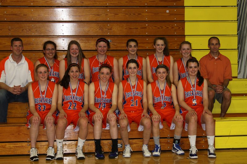 The Firecrackers eighth-grade girls' basketball team recently won a pair of state championships. The Firecrackers are going to the AAU national tournament in July.