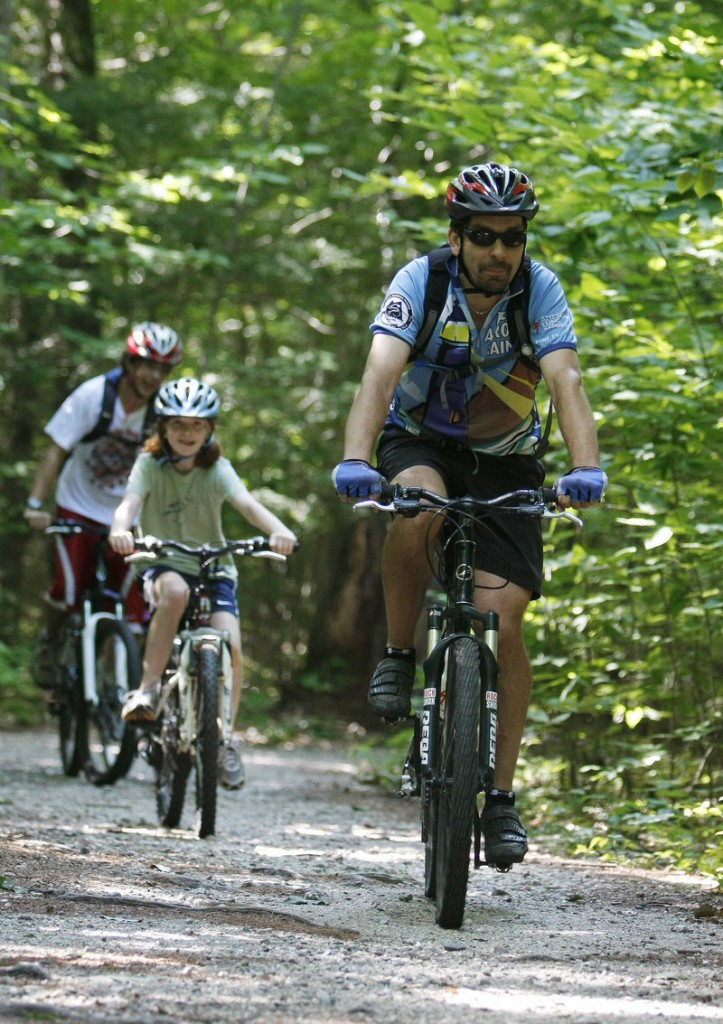 The mountain bike trails at Bradbury Mountain State Park in Pownal attract riders of all ages. A youth race series continues there this summer.