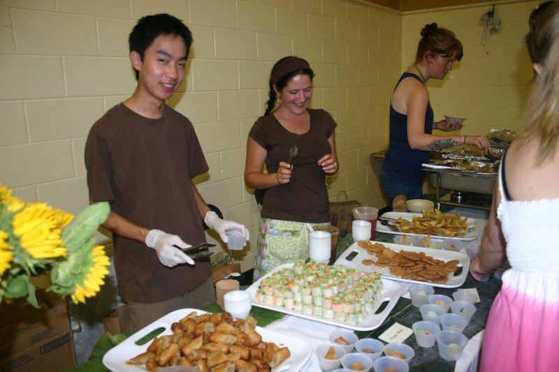 Green Elephant Vegetarian Bistro co-owner Dan Sriprasert and his crew serve up free samples at last year's festival. They'll be back, too.