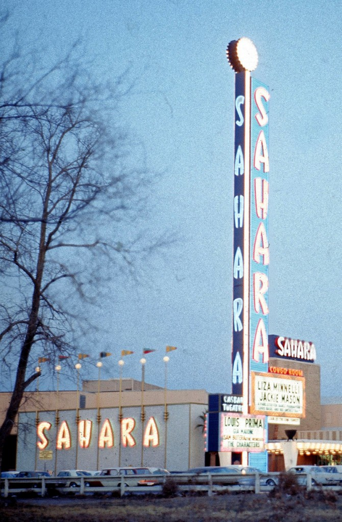 This photo from 1974 shows the Sahara Hotel in Las Vegas. The iconic hotel-casino opened 59 years ago but was closed after business steadily eroded, then fell off in the recession.