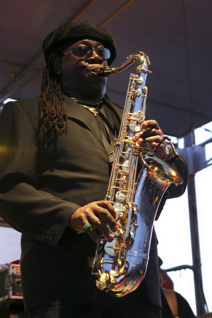 Clarence Clemons performs at The Stone Pony in Asbury Park, N.J., in 2004. The saxophone player who helped catapult Bruce Springsteen to rock fame was known as The Big Man.