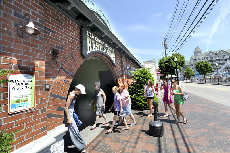 Public bathrooms on West Grand Avenue in Old Orchard Beach could soon charge a fee.