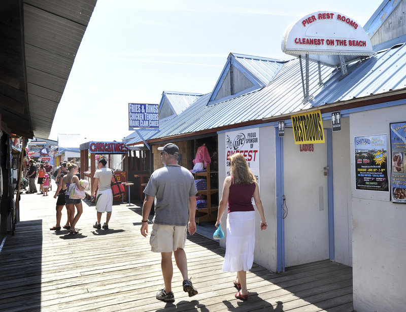 A privately owned restroom on The Pier in Old Orchard Beach, shown here, already charges 50 cents for single use or $2.50 for a day pass.