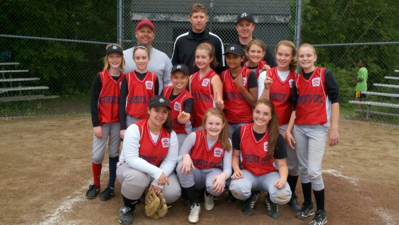 Giroux Energy of Portland North Little League won the city softball championship on June 13, defeating The Landing 6-5 in the championship game. Sydney Gilbert drove in the winning run, and Isabelle DiMillo struck out 14. Team members, from left to right, are: (front row) Annalise Richards, Caroline Ray and DiMillo; (middle row) Meredith Cilley, Gilbert, Grace Stacey, Carly Peterson, Annie Twombly, Madison Legassey, Julia Richards and Sydney Giroux; (back) Coach Richards, Coach Giroux, Coach Chris Gilbert.
