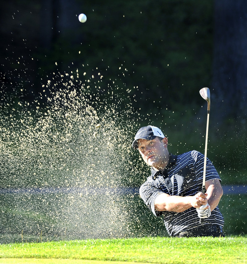 Dustin Cone of Port St. Lucie, Fla., found the Maine Open to be a little tougher than a year ago, when he won the tournament. Cone shot a 74 in the first round Tuesday and fell eight shots behind the co-leaders.