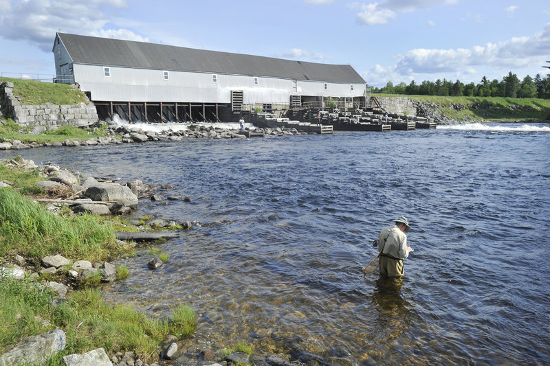 Upper Dam, at the outlet of Mooselookmeguntic Lake, will be replaced by a modern dam, changing the character of a historic fly-fishing location. The dam's owners say the new structure will give anglers the same access they have now.