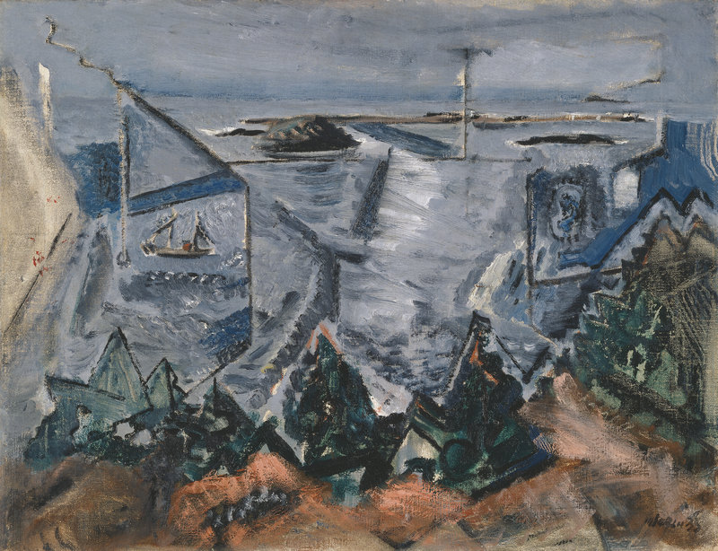 """Composition, Cape Split, Maine, No. 2,"" oil on canvas, 1933"