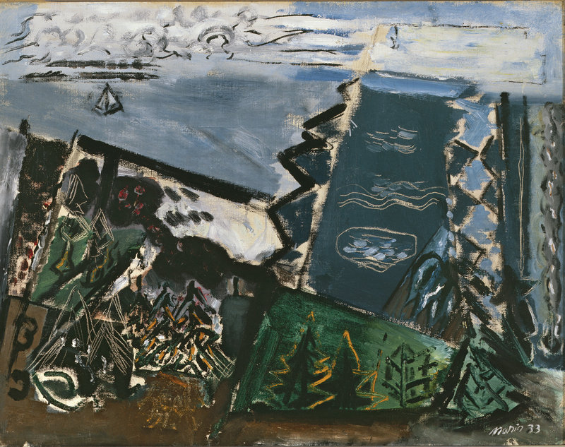 """Composition, Cape Split, Maine, No. 3,"" 1933, oil on canvas."