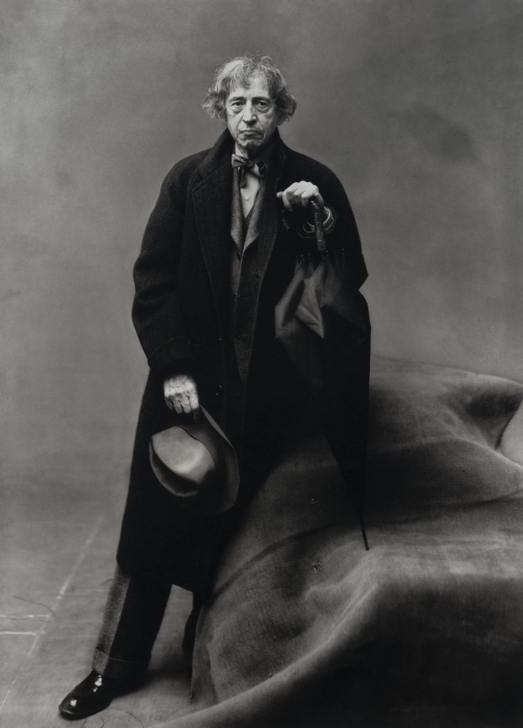 An Irving Penn photograph of the artist, circa 1949.
