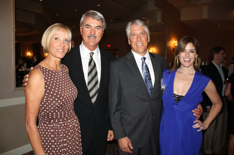 Red Sox Hall of Famer Dwight Evans, second from left, with his wife, Susan Evans, Cromwell Center for Disabilities Awareness Board Chair Les Otten and Lisa Pierpont of Boston.