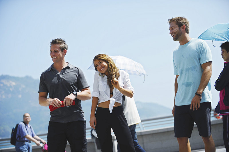 Having moved beyond the heartless Bentley, Bachelorette Ashley Hebert, 27, a Madawaska native, shares a moment with two of the six men who remain in the running for her affections, and a possible marriage. New episodes will begin airing July 11.