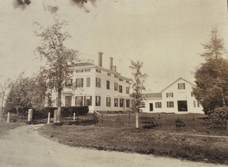 A photograph taken around 1900 shows the Capt. Reuben Merrill House in its original state. The captain died in 1875 during a voyage reluctantly taken to raise funds to pay for the house.