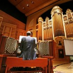 Municipal organist Ray Cornils plays the Kotzschmar Organ at Merrill Auditorium in the summer of 2009. Renovations are expected to cost $3 million, and the Friends of the Kotzschmar Organ say they will raise half that amount if the city will ask voters to approve a bond for the other half.