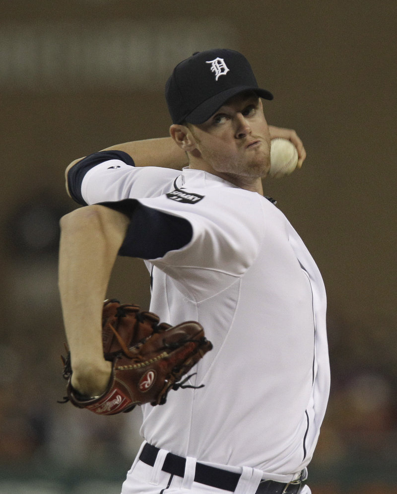 Charlie Furbush is a picture of deception as he pitches – one reason he was able to rise to the majors before being sent back to Triple-A Toledo.