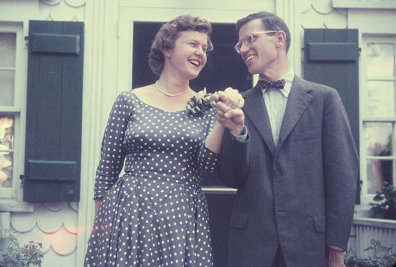 Norman Morse with his first wife, Helen, in 1954, the year they were married.