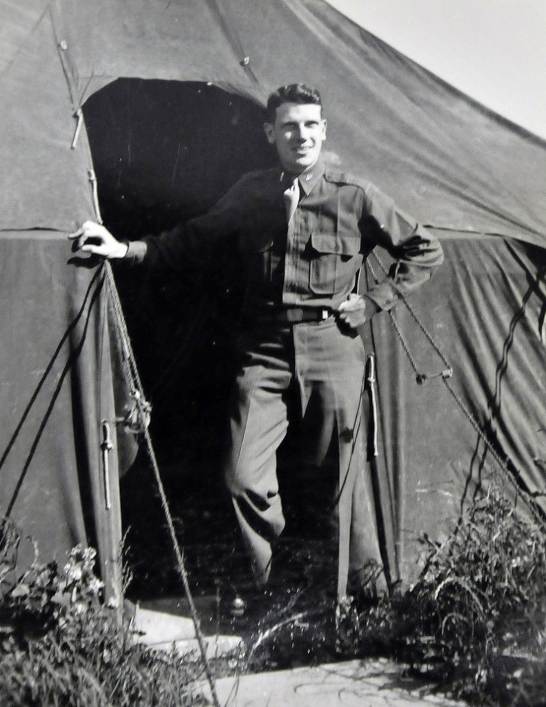 Norman Morse poses for a photograph in May 1944, when he was stationed at Start Point, Devon, England, just weeks before the D-Day invasion at Normandy, France, during World War II. Morse was a second lieutenant in a radar company that followed Gen. George S. Patton's Third Army through France and into Germany.