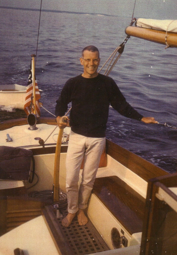 Norman Morse is shown sailing in Long Island Sound off Southport, Conn., in 1960.
