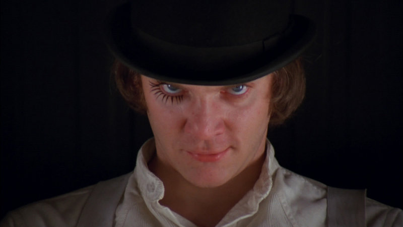 "Malcolm McDowell in ""A Clockwork Orange"""