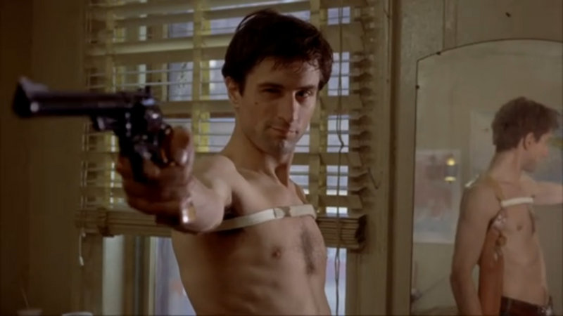 "Robert DeNiro as Travis Bickle in the 1976 classic ""Taxi Driver,"" showing Sunday and Monday at the Maine International FIlm Festival in Waterville."