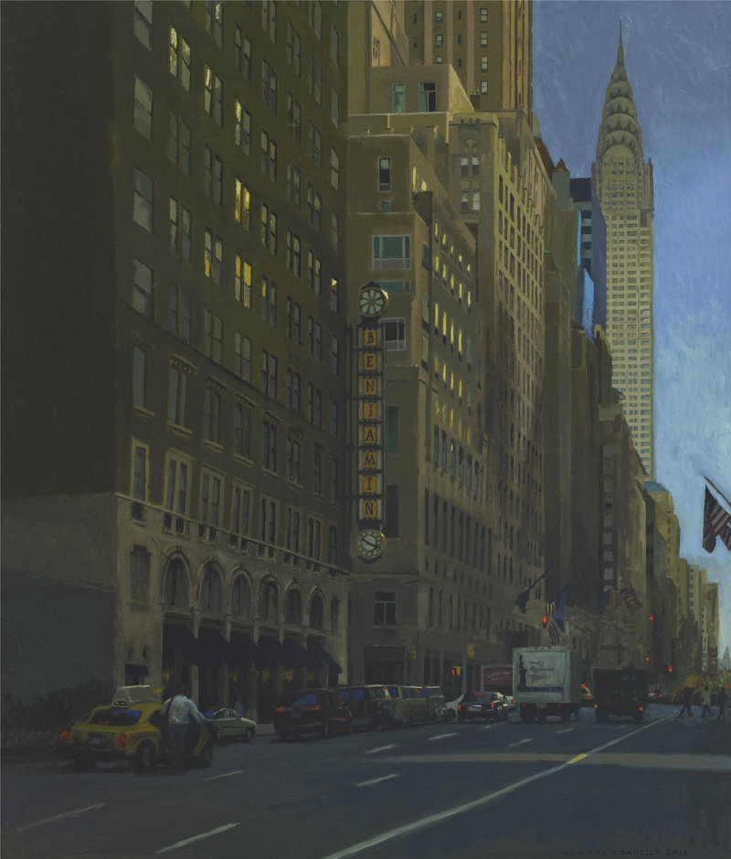 "Thomas Connelly's oil on panels ""Benjamin Hotel"""