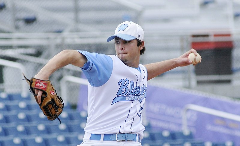 A torn ligament in his throwing arm pushed Scott Heath from the mound in the regular-season finale this spring. He finished the season 5-0 and didn't allow an earned run.
