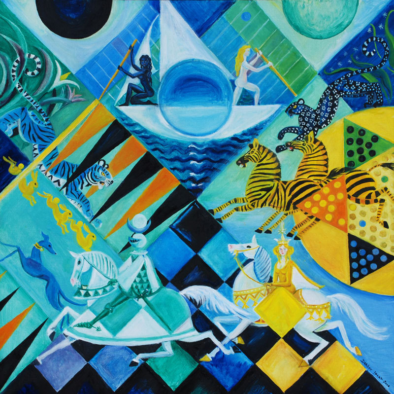 This painting by Dahlov Ipcar inspired a collaboration.