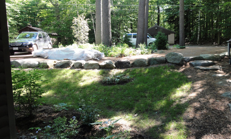 Torrents of rainwater used to flow directly into Sebago Lake at this property in Casco but are now are filtered via