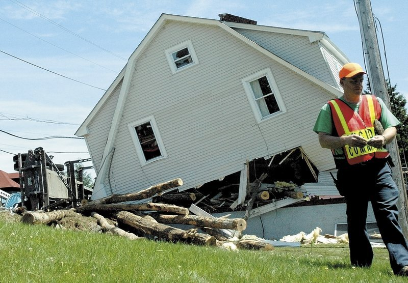 The Jackman home where 5-year-old Liam Mahaney was killed by rolling logs early Tuesday morning was considered a total loss as a result of the crash in which a logging truck rolled and spilled its cargo, according to Detective Lt. Carl Gottardi of the Somerset County Sheriff's Office. He said the driver, Christian Cloutier, 57, of Quebec, told authorities that he had fallen asleep at the wheel. Cloutier was taken to a Bangor hospital with injuries that were not considered life-threatening.
