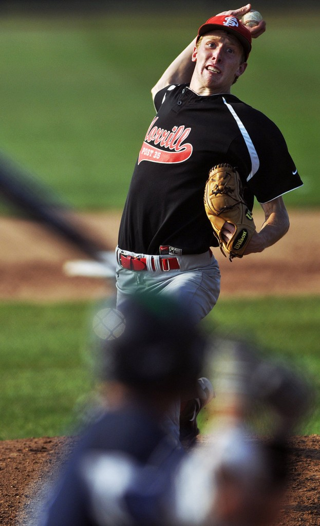 Matt DiBiase of Morrill Post is headed to the American Legion state tournament. So are his teammates after winning the Zone 4 title.