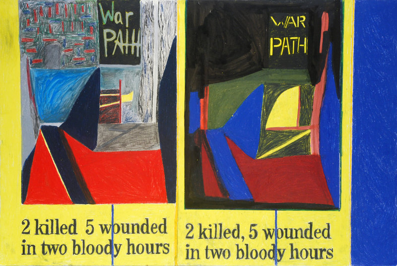 """""""War Path"""" by Anthony Campuzano, who will speak Wednesday at the Institute of Contemporary Art at the Maine College of Art in Portland."""