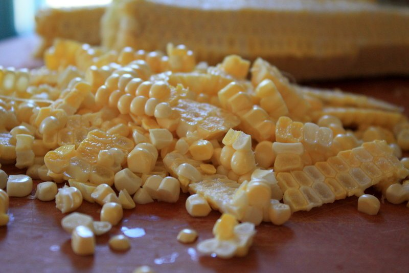 After slicing off the corn kernels, use the cobs to flavor risotto or soup.