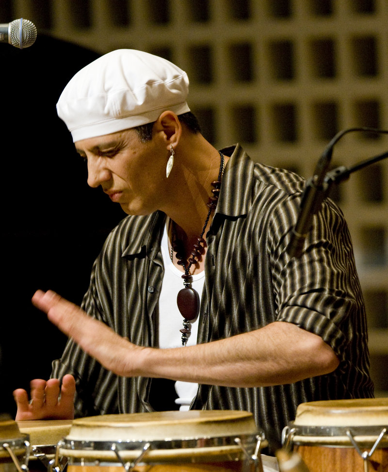 Shamou, a Portland-based percussionist, is one of the dance festival musicians who will jam at the Musicians Concert.
