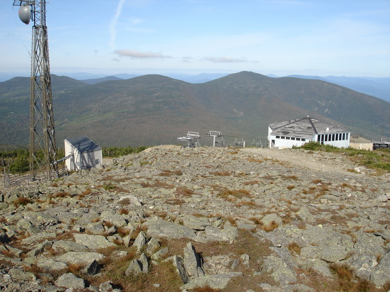 The summit of Sugarloaf Mountain in Carrabassett Valley. The climb takes you up 4,250 feet in just a few miles.