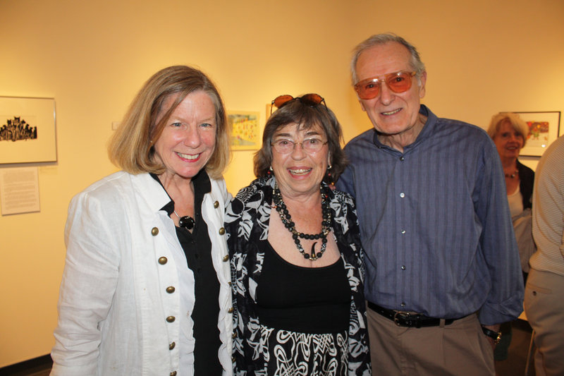 Gallery director Anne Zill, photographer Marta Morse and artist Brown Lethem.