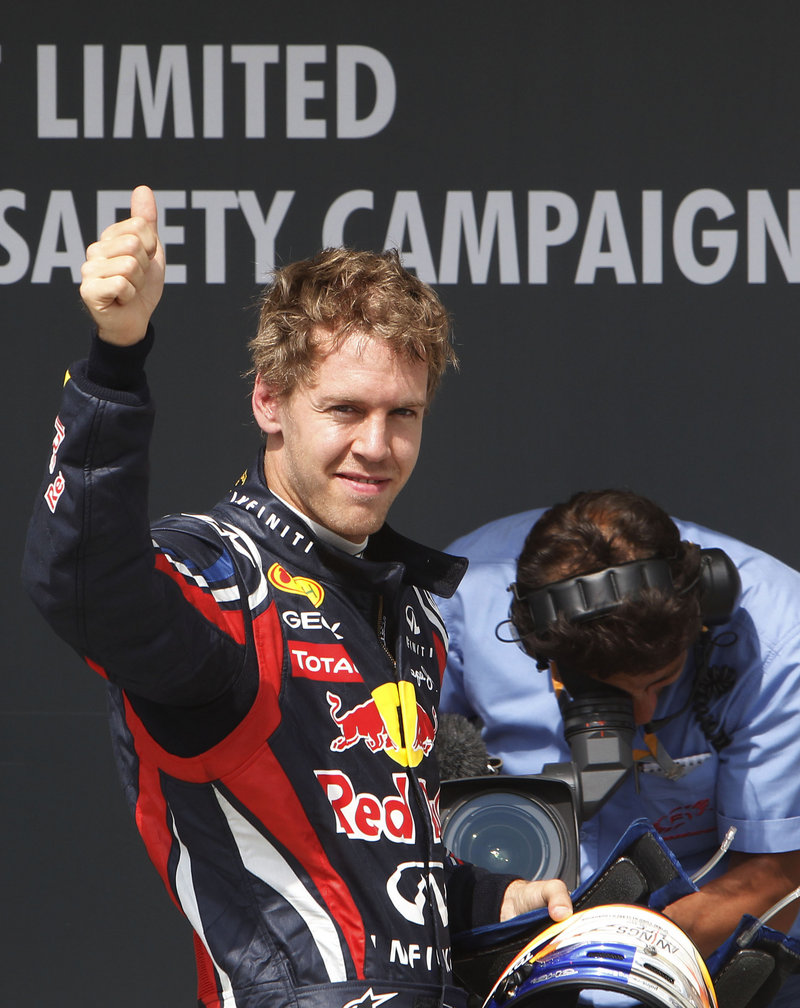 Sebastian Vettel, the Formula One points leader, won the pole for today's Hungarian Grand Prix in Budapest. Vettel completed his winning lap in 1 minute, 21.168 seconds.
