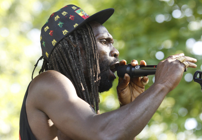 Nyah Henderson of Stream Reggae performs during the Festival of Nations at Deering Oaks in Portland on Saturday. The festival is designed to showcase Maine's diversity and promote unity among cultures.