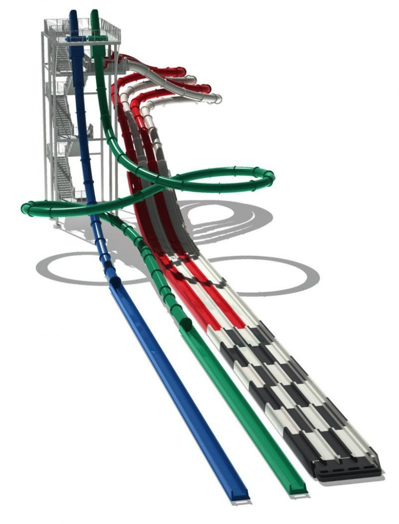 Proposed new waterslides.