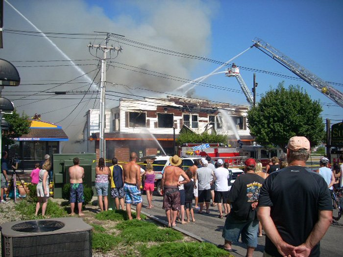 Contributed photo of fire scene by Bruce Fleming of Old Orchard Beach.