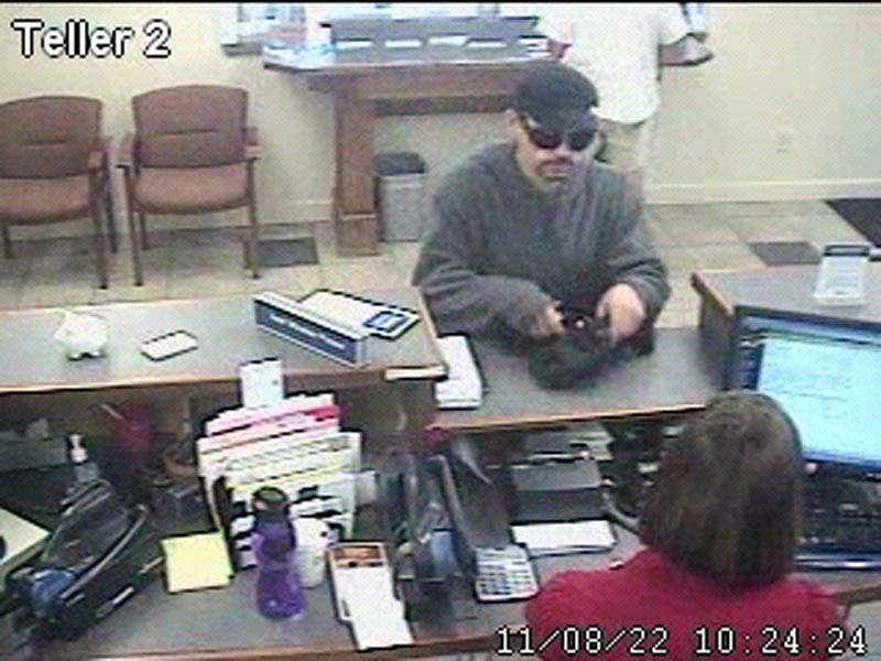 THE SUSPECT: Police are searching for a man they say robbed a Capitol Street bank Monday in Augusta. Police said the man, who they believe to be in his 30s, stood about 5 feet 6 inches and weighed 130 to 150 pounds.