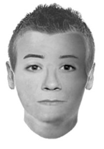 This composite sketch provided by the Virginia Tech Police Department shows a likeness of the person described by three children who reported seeing a man holding what looked like a gun.