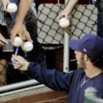 Bryce Harper is the phenom for the Washington Nationals who simply has to poke his head out of a dugout to be deluged with autograph requests. He's 18.