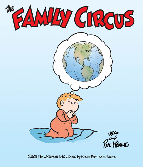 Family Circus with a 9/11 theme.