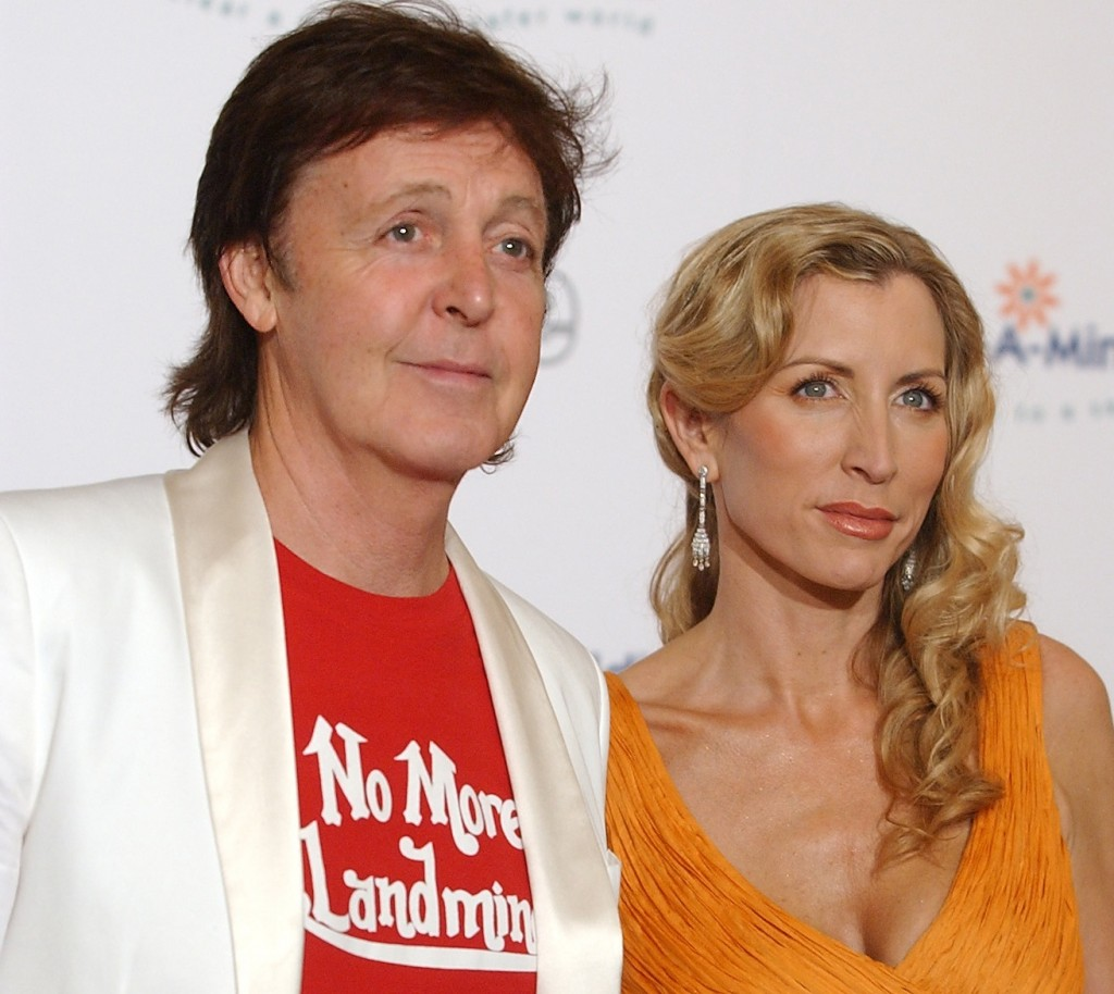 Goodwill ambassadors Paul McCartney and Heather Mills McCartney attend the 2005 Adopt-A-Minefield fifth annual gala in Beverly Hills, Calif.