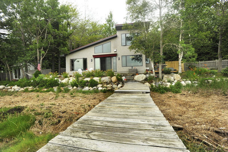 The cottage built by Susan Myer Riley and her husband, Dixon Riley is like a boat in that space is used to maximum efficiency.